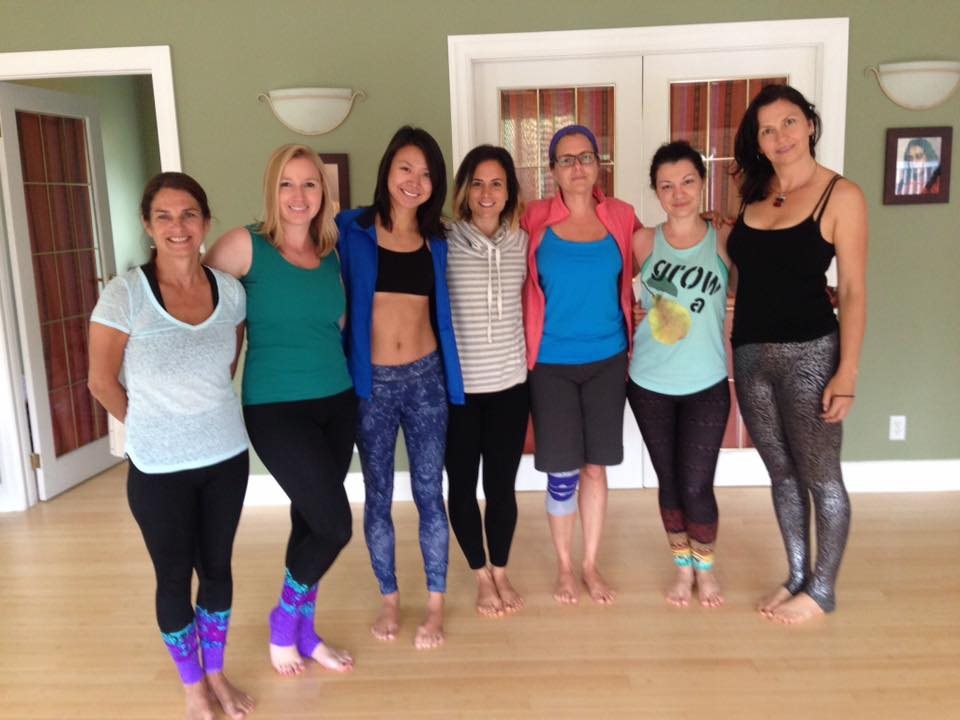 Fellow Hot Yoga Bradford YTTs and the yoga studio owner at the Lotus Heart Centre retreat in Brighton